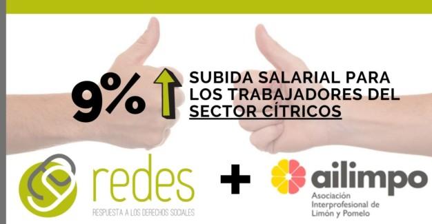 subida salarial del 9% para las trabajadoras del sector cítricos